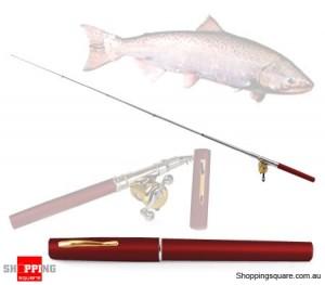Portable Telescopic Fishing Rod Imitation Pen with Reel