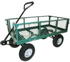 Garden Cart - Mesh Wheelbarrow with 300kg Max Capacity - Green