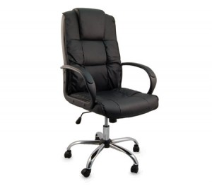 Split Leather High-Back Executive Office Chair