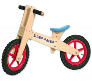 Super Racer Children Educational Wooden Balance Toy Bike - Blue