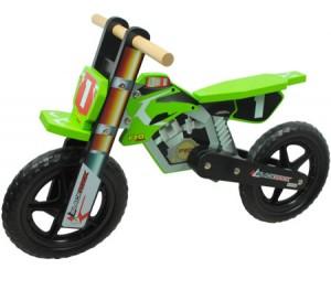 Wooden Balance Toy Bicycle Bike - Motorcycle Design - Black Rock