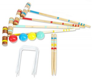 Halex Classic Croquet Set with Carry Bag - Up to 4 Players