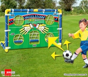 Soccer Goal Training Set with 13cm Ball and Inflator