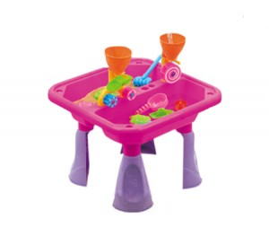 Outdoor Water & Sand Children Activity Play Table with Accessories - Pink