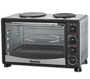34L Electric Convection Oven with Twin Hot Plates & Rotisserie
