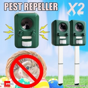 2 x Motion  Activated Solar Power Pest Repeller