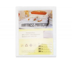 Fitted Waterproof Soft Cover Mattress Protector - Single Bed Size