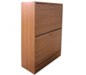 Wooden Shoe Storage Cabinet with 2 Racks - Beige