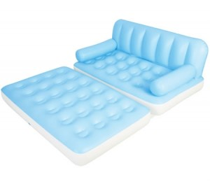 Bestway Double 5 in 1 Inflatable Couch with Pump - Light Blue