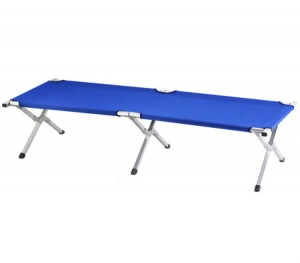 Camping Bed - Foldable with Carry Bag - 190cm x 64cm - Blue