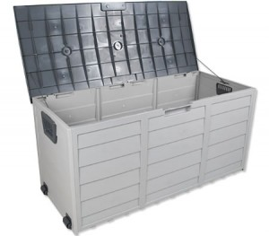 Set of 2 290L Outdoor Plastic Storage Container - Dark Gray