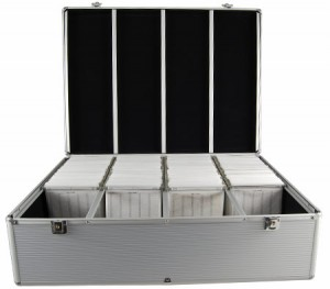 1000 Disc Aluminum CD/DVD Storage Box Case