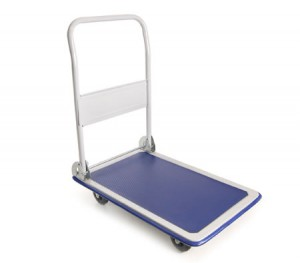 Folding Heavy Duty Platform Push Trolley - 150kg Weight Capacity