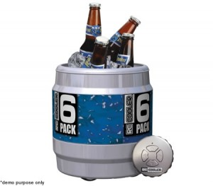RC Remote Control Insulated Drinks Cooler - 6 Drink Capacity