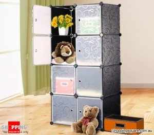 8 Cabinet Multi Storage Wardrobe