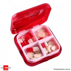 4 Slot Medical Pill Box Drug Portable Organizer