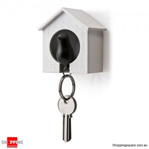 Bird House Shape Keyring Key Holder Key Chain With Whistle