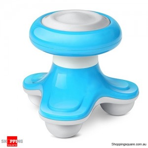 Mini Wave Vibrating Massager Handled USB/Battery Blue Colour