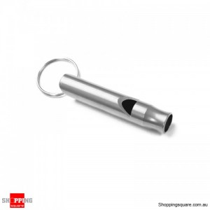 Portable Aluminum Survival Camping Mini 4.5CM Whistle With Keychain Silver Colour
