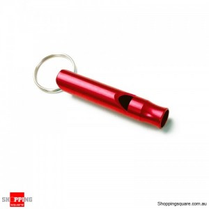 Portable Aluminum Survival Camping Mini 4.5CM Whistle With Keychain Red Colour