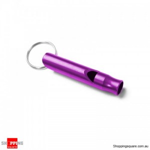 Portable Aluminum Survival Camping Mini 4.5CM Whistle With Keychain Purple Colour