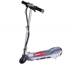 Kids Electric Scooter with Light - Foldable & Adjustable, Silver