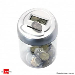 Digital Coin Counting Pot Jar Money Saving Bank