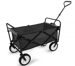 Black Folding Utility Cart