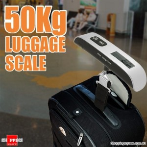 50kg/10g 110Lb Digital Hanging Portable Electronic Travel Luggage Scale