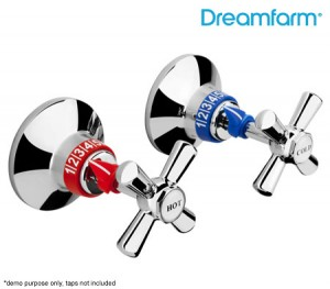 Dreamfarm Temji - Dials for Your Tap Handles - Hot Red & Cold Blue, Set of 2
