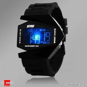 STYLISH Unisex LED Digital Sports Watch Black Colour
