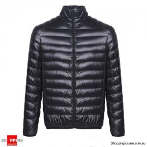 Fashion Men's Ultra Lightweight Down Jacket Size 14 Black Colour