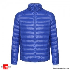 Fashion Men's Ultra Lightweight Down Jacket Size 8 Blue Colour