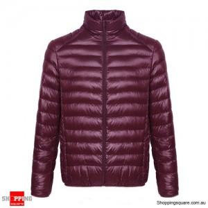 Fashion Men's Ultra Lightweight Down Jacket Size 10 Purple Colour