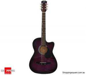 "Cutaway Electric/Acoustic Guitar (38""inch) Violet with Built-in Equaliser"