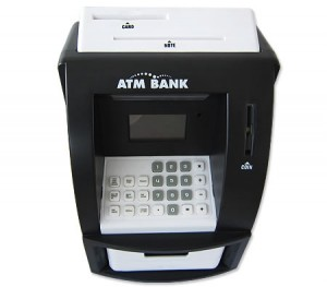 My Personal ATM Money / Coin Bank Machine with Digital Display - Black