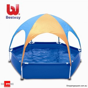 Bestway 8FT Play Pool with UV Careful 40+ UPF Splash-in-Shade Water Set
