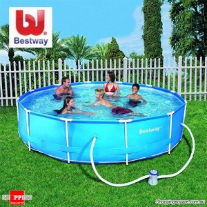 BESTWAY Deluxe Steel Pro Frame Large Outdoor Pool