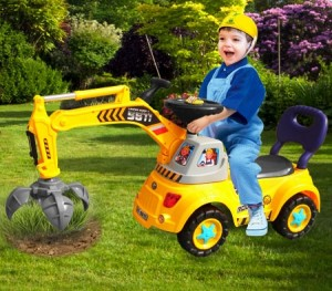 Kids Multi-Function Ride On Yellow Truck