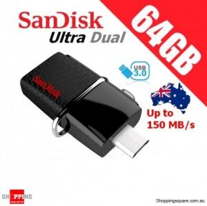 SanDisk 64GB Ultra Dual OTG USB Drive 3.0