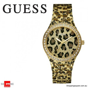 Guess Ladies Sparkle Leopard Watch
