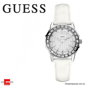 Guess Ladies Stainless Steel Crystal Analog Watch