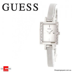 Guess Ladies Divine Stainless Steel Silver Chained Watch