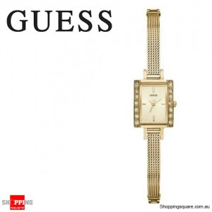 Guess Ladies Divine Stainless Steel Gold Chained Watch