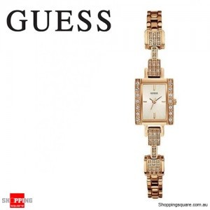 Guess Ladies Divine Rose Gold Plated Stainless Steel with Crystals Watch