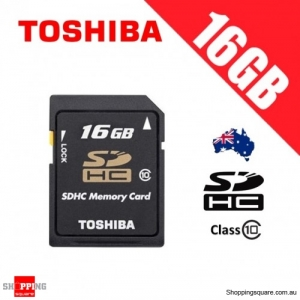 Toshiba 16GB SD SDHC Flash Memory Card High Capacity Class 10