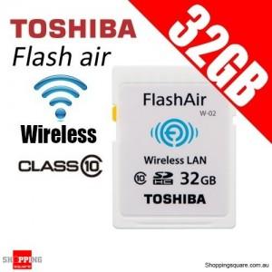 TOSHIBA 32GB FlashAir Wireless Data Transfer Class 10 SD Card