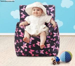 Pink Print Baby Bean Bag Sofa Cover
