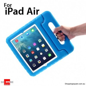 New Kids Shock Proof Thick Foam Cover Case Handle For ipad air Blue Colour