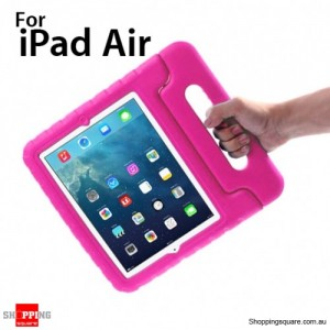 New Kids Shock Proof Thick Foam Cover Case Handle For ipad air Pink Colour